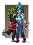 Monster Couple *colored* by CaptainMetal