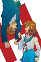 Haruhi and Kyon by Noidatron