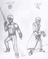 Dead-Shot and The Riddler by leo-darkheart