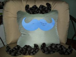 Mustache Pillows by xxx-TeddyBear-xxx