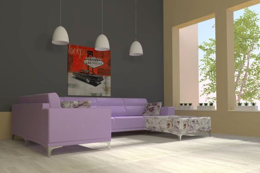 Sofa Aston Lilac by davidfly