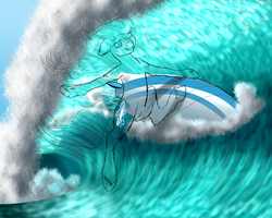 Surf Dat Wave! WIP 2 by Crazyaniknowit