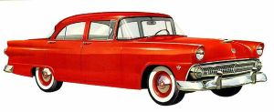 age of chrome and fins : 1955 Ford by Peterhoff3