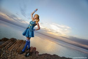 Fairy Tail - Lucy summoning Aquarius by vaxzone