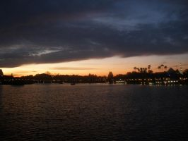 Sunset at Epcot by TroikAnia