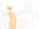 Winged Girl Base by A-I-T