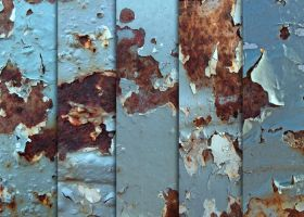 Rusty Blue Chips Textures by sdwhaven