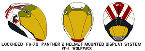 FA-70  Panther 2 Helmet M VF-1 Wolfpack by bagera3005