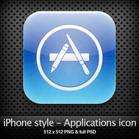 iPhone style - Apps icon by YaroManzarek