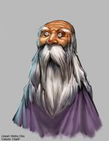 Oldman with beard by ChanpART