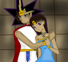 Rei comforting his sister Keda by QueenBrittStalin