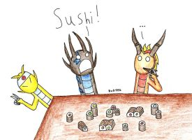 AT: Sushi by DragonofDarkness1992
