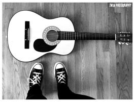when guitar met shoes by twinphotography