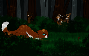 Hunting Patrol by YellowfangOfStarclan