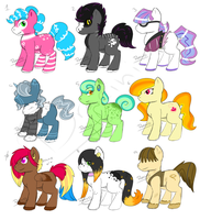Pony Adoptables 5 by Dracini