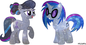 [MLP] Octavia and Vinyl Galaxy's Power by MixiePie