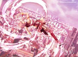 Serah - Sky high by Arlequinne
