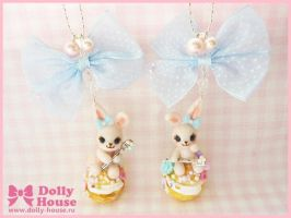 Sugar Bunny Necklace by Dolly House by SweetDollyHouse
