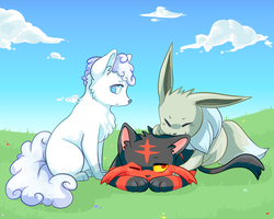 Ear nomming by Ivory-Luxray