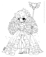 Queen of Hearts Lineart by YamPuff
