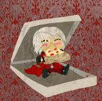 dante in a pizza box by hiddentalent1