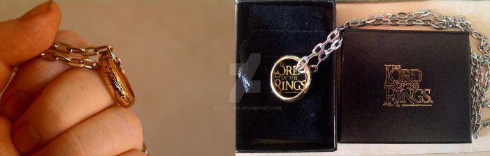 Lord of the Rings - The One Ring, with chain. by OutofLuna