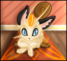 Num. 052 Meowth by Porcelain-Pocky