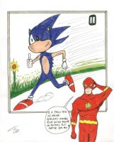 Sonic and Flash - coloured by FG-Arcadia