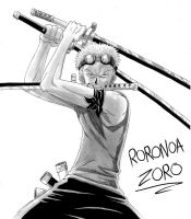 Zoro - One Piece by Gbtz007
