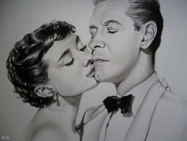 Audrey Hepburn and William Holden by TheHopelessDreamer
