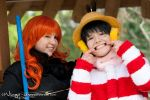 Luffy and Nami   Punk Hazard   II by Wings-chan
