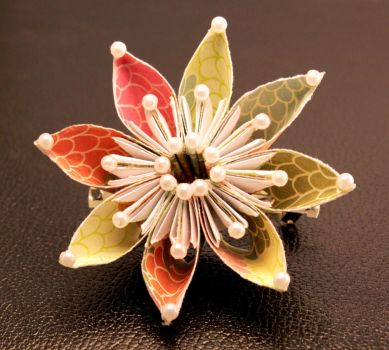 Eight-Pointed Multicolor Flower Hair Clip Eight-Po by SmexySarah
