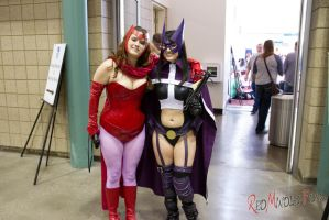 Huntress and Scarlet Witch by RedMindlessFilms