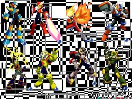 Megaman Collage by Magios-666