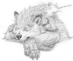 Sleeping Arcanine sketch by Tacimur