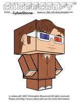 Cubeecraft - 10th Doctor \'3D Glasses\' by CyberDrone
