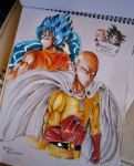 Saitama and Goku version 2 by xChesKaMaEx
