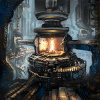 Among the stars - power reactor by Odysseus-XB
