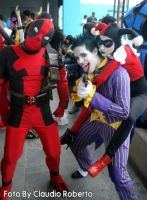 Deadpool, Joker and Harley by pamzynha