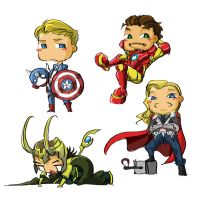 The Avengers's blood group by verotzard