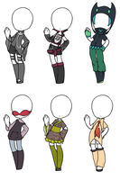 Outfit Adoptables by yumehari