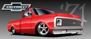 '71 Chevy Truck by kenpoist