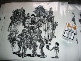 robodad screenprint by emilioo