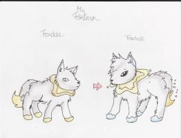 Fakemon Foxdole and Foxolale by PikaSonic