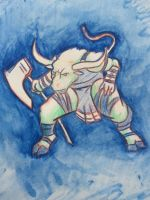 Sketch of a Minotaur by MarcoHauwert
