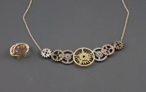 Steampunk Jewelry by PsychoticVoices