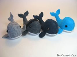 Whale Plushies by TheCrittersCove