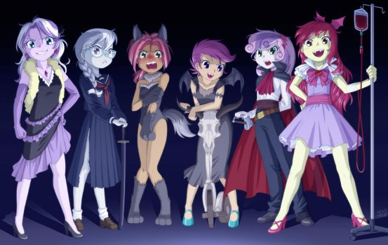 Vampire Fillies (and Werewolf Babs) by uotapo