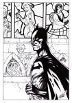Batman and stained glass by radja01