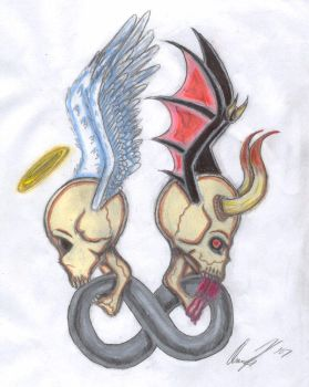 Two sides, One immortality by Club-TraditionalArt